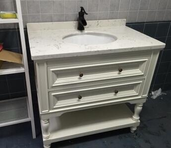 Custom Vanity With Nature Marble Top ...