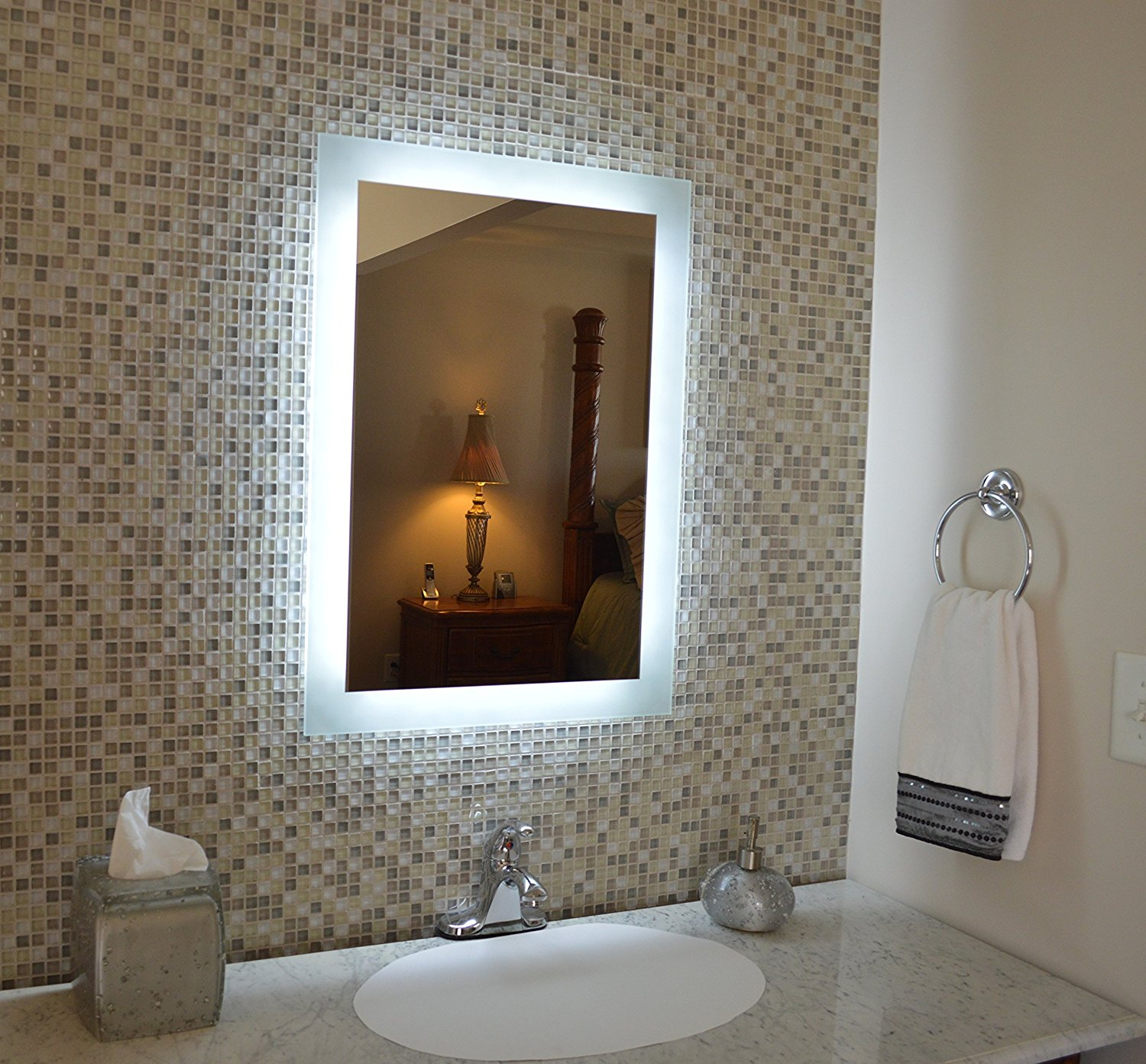 5mm Silver Coating Bathroom Led Mirrors Best S With Frosted Area
