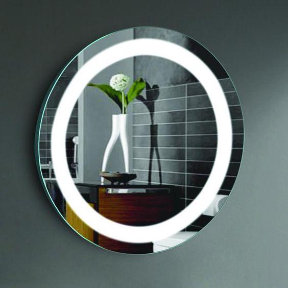 Bath Mirrors Led Bathroom Round Mirror 27 Inch