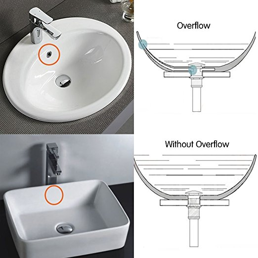 Bathroom Vessel Sink Pop Up Drain Without Overflow Chrome