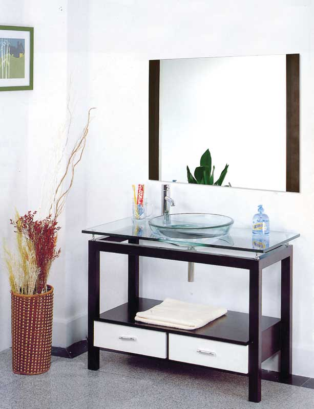 Best Design Bathroom Glass Wash Basin Cabinet China Xd 105