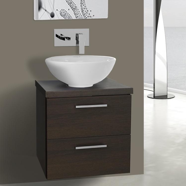 20 Inch Wenge Small Vessel Sink Bathroom Vanity, Wall ...