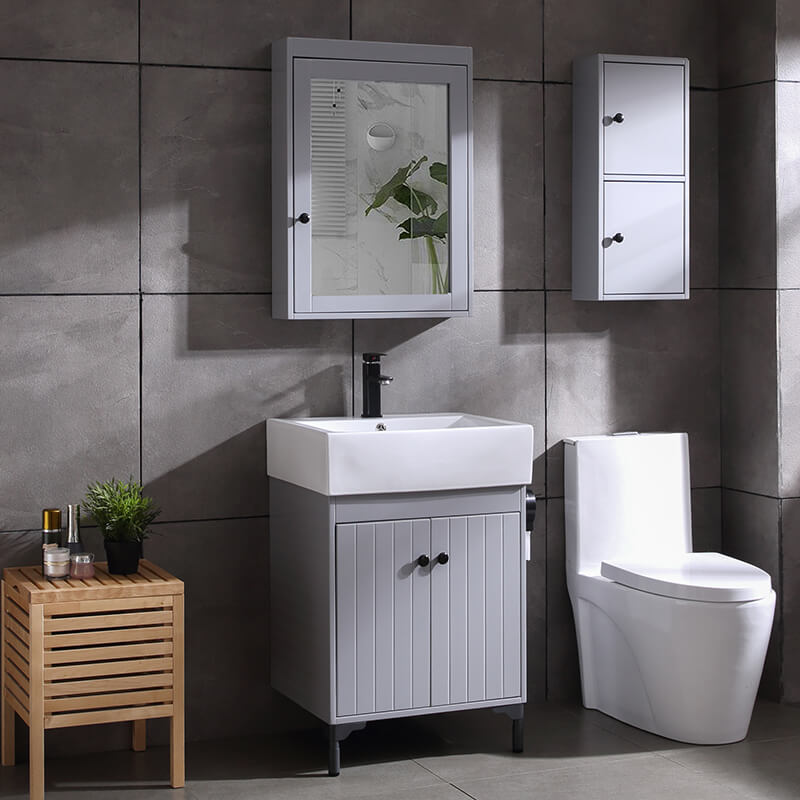 Small apartments white lacquer waterproof bathroom vanity ...